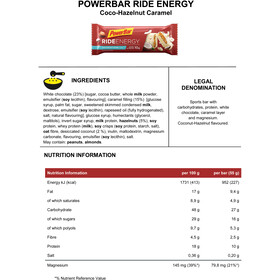 PowerBar RideEnergy Bar Box 18x55g, Coco-Hazelnut Caramel